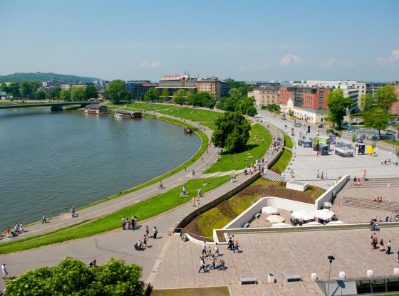 Kraków i Bulwar wiślany